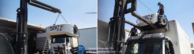 guchen thermo super snow truck refrigeration units for sale export to middle east
