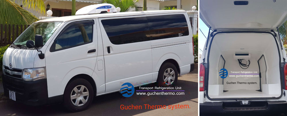 TR-110D delivery van refrigeration unit export to Mauritius|Guchen Thermo