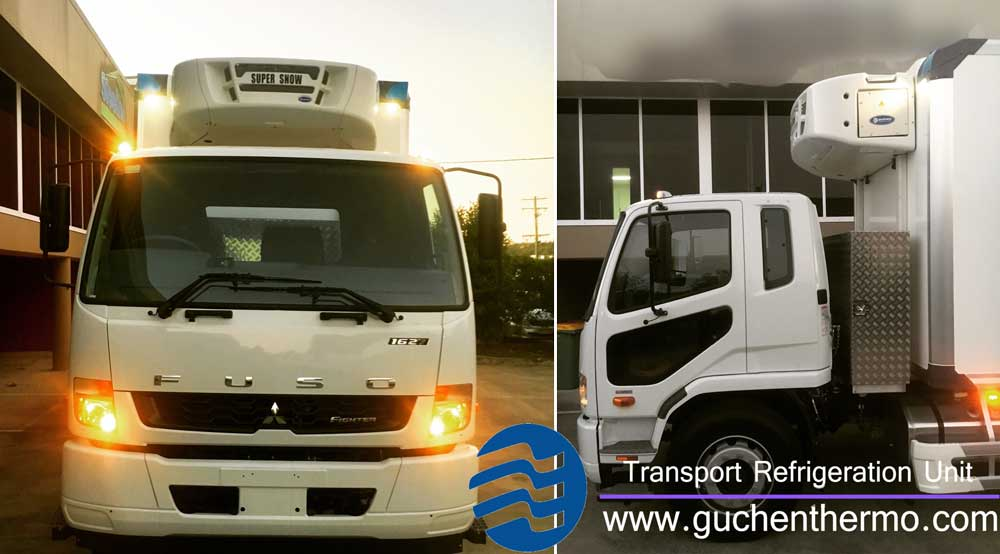 Guchen Thermo TS-1000 truck refrigeration units to Australia