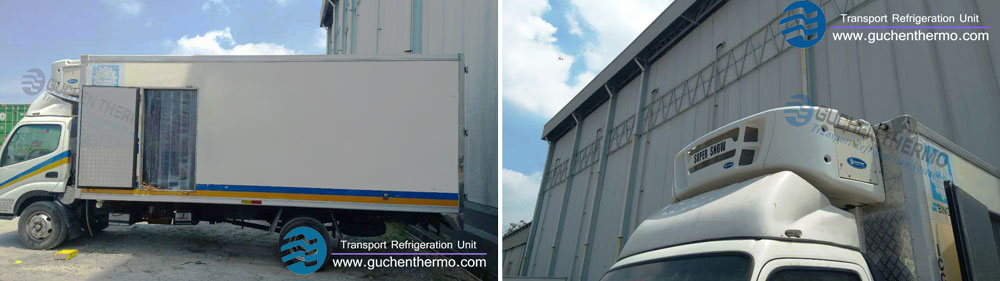 TS-800 Truck Refrigeration Units Export to Malaysia Cold Chain Transport Company