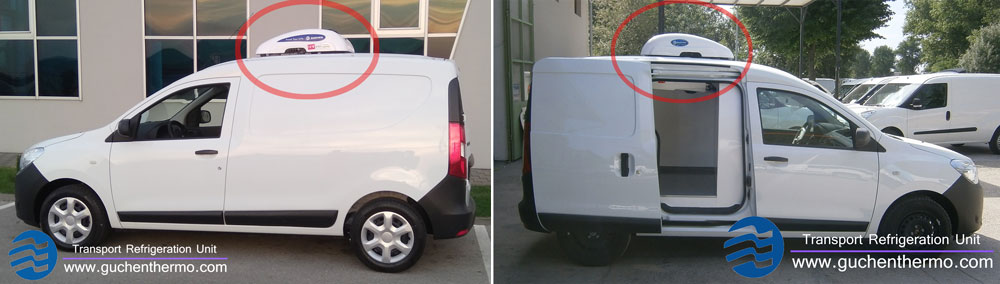 TR-110D Van Refrigeration Installed on DACIA Cargo Van