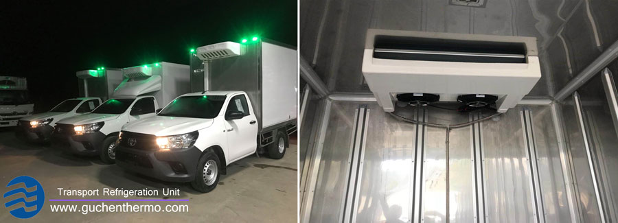 Guchen Thermo C-300 truck chiller units export to Southeast Asis