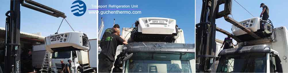 guchen themo diesel engine truck refrigeration units ts-1000 installation