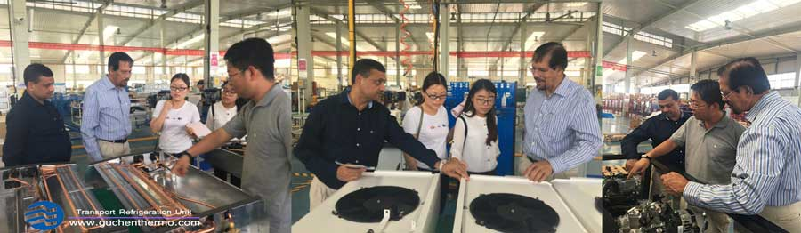 our customer from Bangladesh are visiting Guchen Thermo Transport Refrigeration Units Factory
