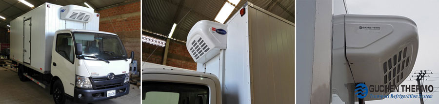 Guchen Thermo tr-450 truck refrigeration units installed on a truck