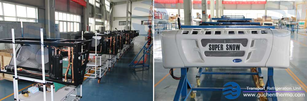 guchen Thermo super snow truck refrigeration units factory