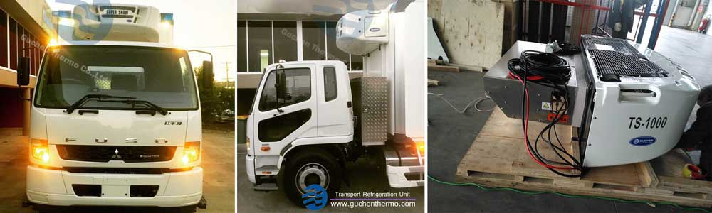 guchen themro super snow truck refrigeration units export to Australia