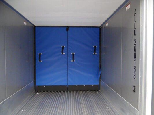 movable partition in a multi-temp road transport refrigeration unit