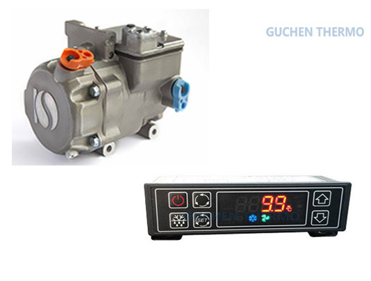 Guchen Thermo chiller units for vans digital panel and compressor