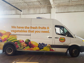 C-300T van chiller units for deliver fruits and vegetables